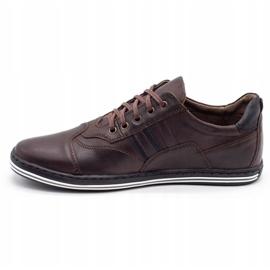 Polbut Men's casual shoes 1801 dark brown 7