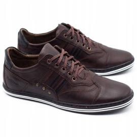 Polbut Men's casual shoes 1801 dark brown 4