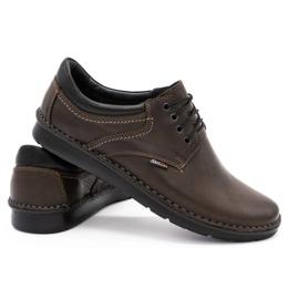 Kampol Casual men's shoes 11 / CZEK dark brown 4