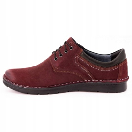 Kampol Men's casual shoes 11/34 burgundy red 2