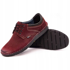 Kampol Men's casual shoes 11/34 burgundy red 4