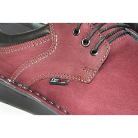 Kampol Men's casual shoes 11/34 burgundy red 7