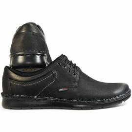 Kampol Casual men's shoes 11/3 black nubuck 4