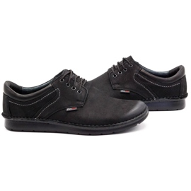 Kampol Casual men's shoes 11/3 black nubuck 6