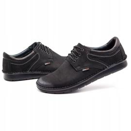 Kampol Casual men's shoes 11/3 black nubuck 7