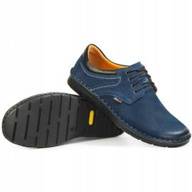 Kampol Men's casual shoes 11/54 navy blue 1
