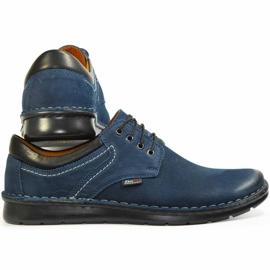 Kampol Men's casual shoes 11/54 navy blue 3