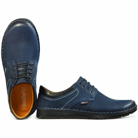 Kampol Men's casual shoes 11/54 navy blue 4