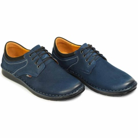 Kampol Men's casual shoes 11/54 navy blue 6