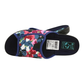 Women's slippers with flowers Adanex 23000 white red navy pink green 4