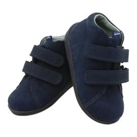 Mazurek Leather Shoes With Velcro Navy Blue 264 3