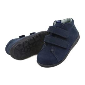 Mazurek Leather Shoes With Velcro Navy Blue 264 2