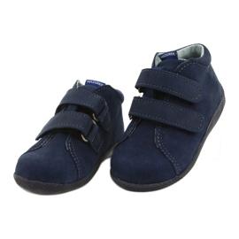 Mazurek Leather Shoes With Velcro Navy Blue 264 1