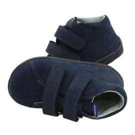 Mazurek Leather Shoes With Velcro Navy Blue 264 4