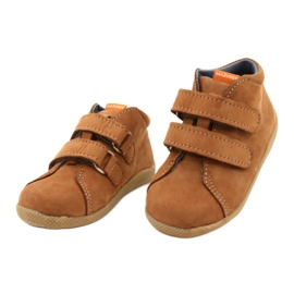 Mazurek Leather Shoes With Velcro Brown 264 1