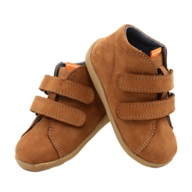 Mazurek Leather Shoes With Velcro Brown 264 3