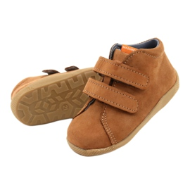 Mazurek Leather Shoes With Velcro Brown 264 2