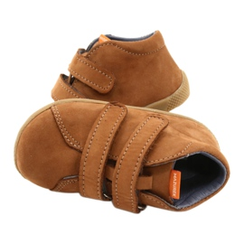 Mazurek Leather Shoes With Velcro Brown 264 4
