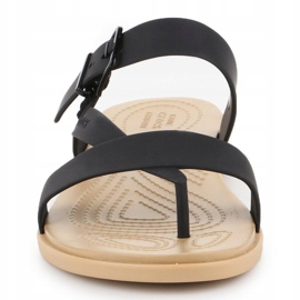 Crocs Tulum Toe Post Sandal W 206108-00W black 1
