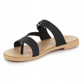 Crocs Tulum Toe Post Sandal W 206108-00W black 2