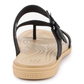 Crocs Tulum Toe Post Sandal W 206108-00W black 5