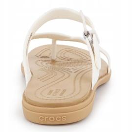 Crocs Tulum Toe Post Sandal W 206108-1CQ white 5