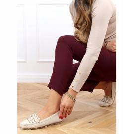 Women's beige loafers GS11P Beige 3