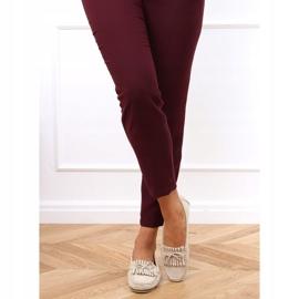 Women's beige loafers GS11P Beige 2