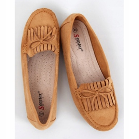 Camel GS11P Tan women's loafers brown 1