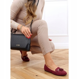 Women's burgundy loafers 9988-159 Wine red 2