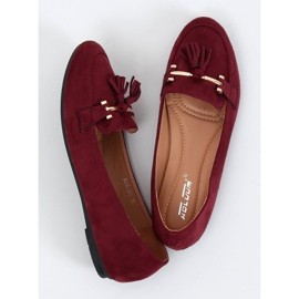 Women's burgundy loafers 9988-159 Wine red 1