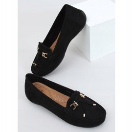 Black Women's loafers with a platform black H9228 Negro 1