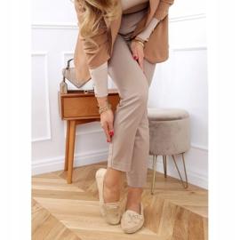 Women's beige loafers on a platform, beige H9228 Beis 3