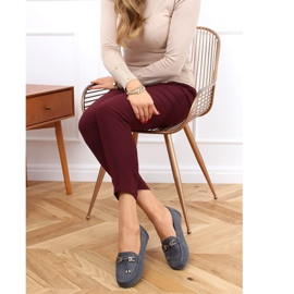 Gray Loafers for women on a platform gray H9228 Gris grey 2