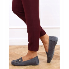 Gray Loafers for women on a platform gray H9228 Gris grey 3