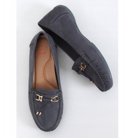 Gray Loafers for women on a platform gray H9228 Gris grey 1