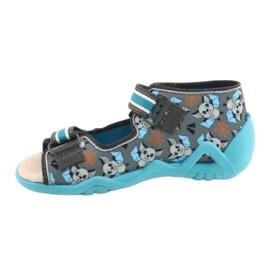 Befado yellow children's shoes 350P021 blue grey 2