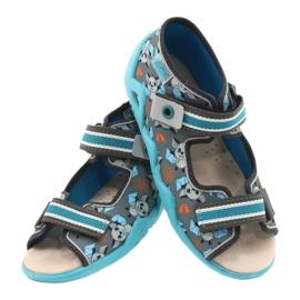 Befado yellow children's shoes 350P021 blue grey 5