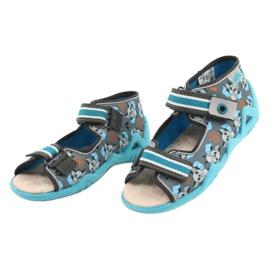 Befado yellow children's shoes 350P021 blue grey 3