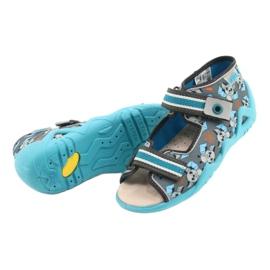 Befado yellow children's shoes 350P021 blue grey 4