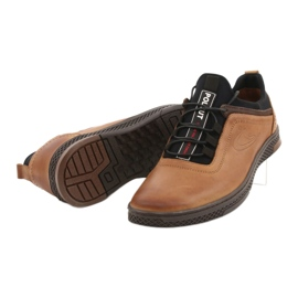 Polbut K24 red leather casual shoes yellow 13