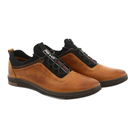 Polbut K24 red leather casual shoes yellow 15