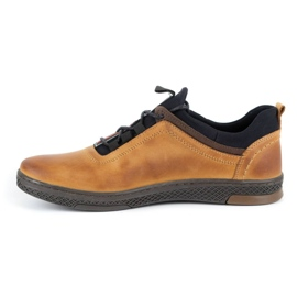 Polbut K24 red leather casual shoes yellow 4