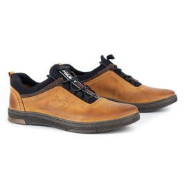 Polbut K24 red leather casual shoes yellow 5