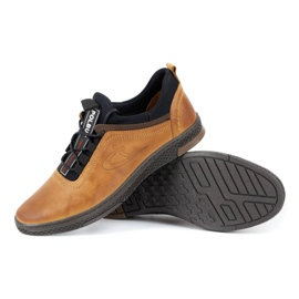 Polbut K24 red leather casual shoes yellow 6
