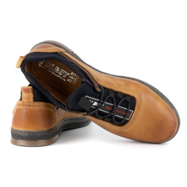 Polbut K24 red leather casual shoes yellow 7
