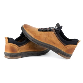 Polbut K24 red leather casual shoes yellow 8