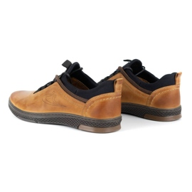 Polbut K24 red leather casual shoes yellow 9