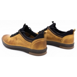 Polbut K24 red leather casual shoes yellow 10