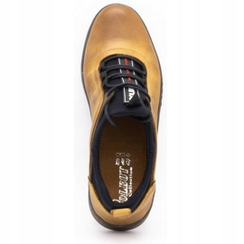 Polbut K24 red leather casual shoes yellow 1